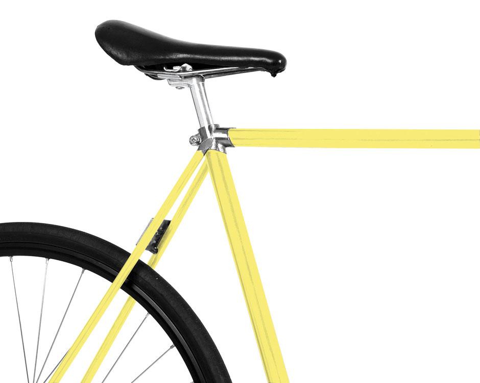 Fahrrad, Bike, frisch, yellow, gelb