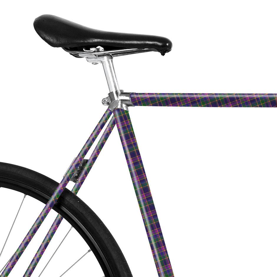 Folie, Fahrrad, bike, Karo, Plaid, Punk, Westwood