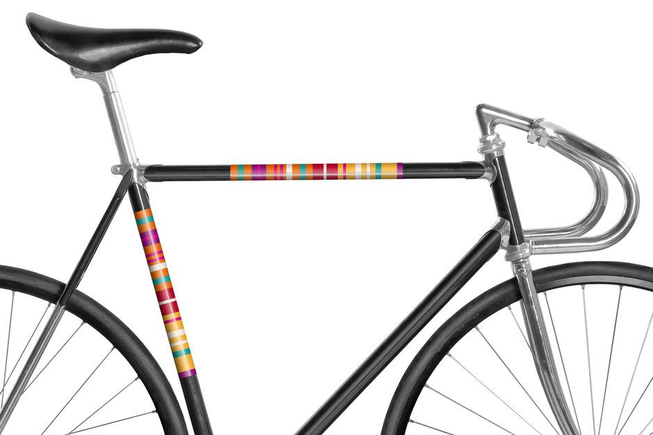 Mooxi-Bike, Fahrrad, reflektierende Folie, Streifen, Orange, Bike, Panel, Banderole, reflectiv, reflektierend