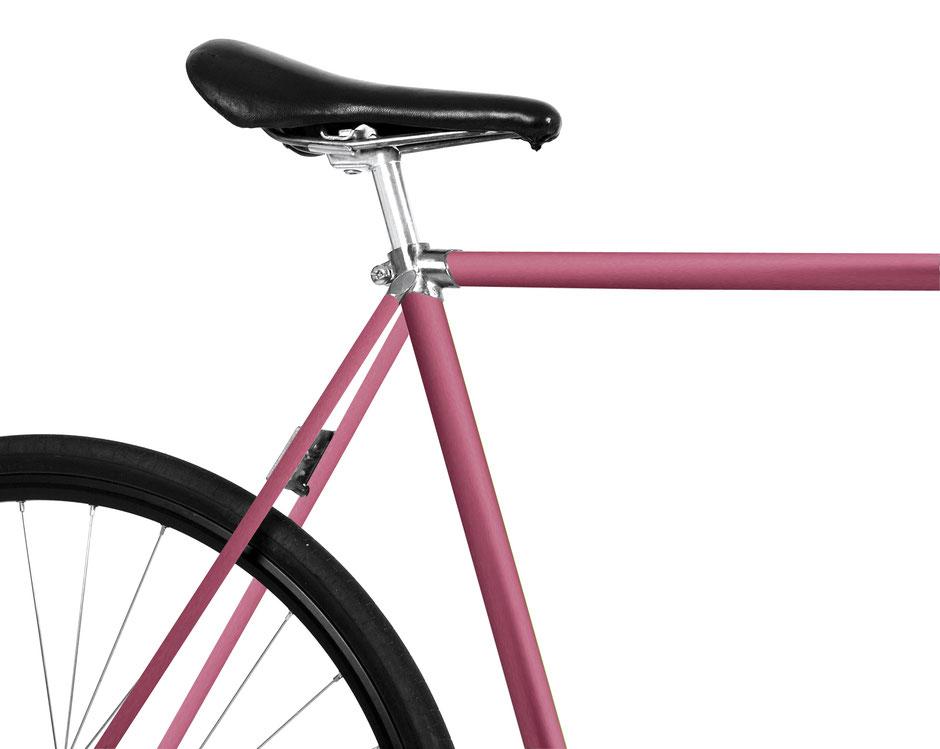Mooxi-Bike, folie, Fahrrad, warmes Pink, matte Folie, trend, eleganter metallischer Schimmer