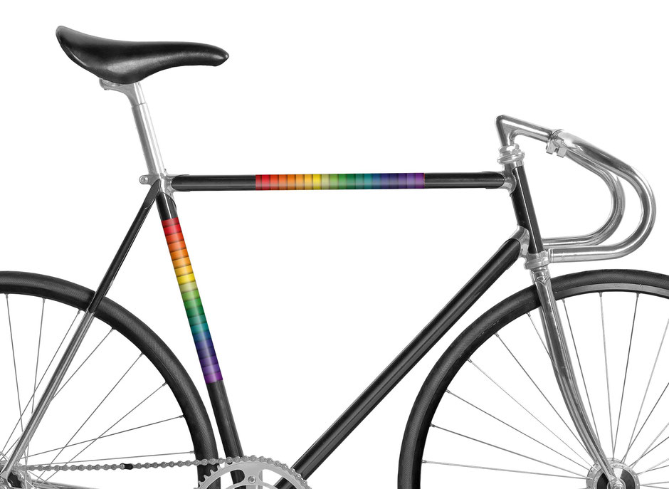 Fahrrad reflektierende Folie, over the Rainbow, Judy Garland, Pride, Gay, LGBT