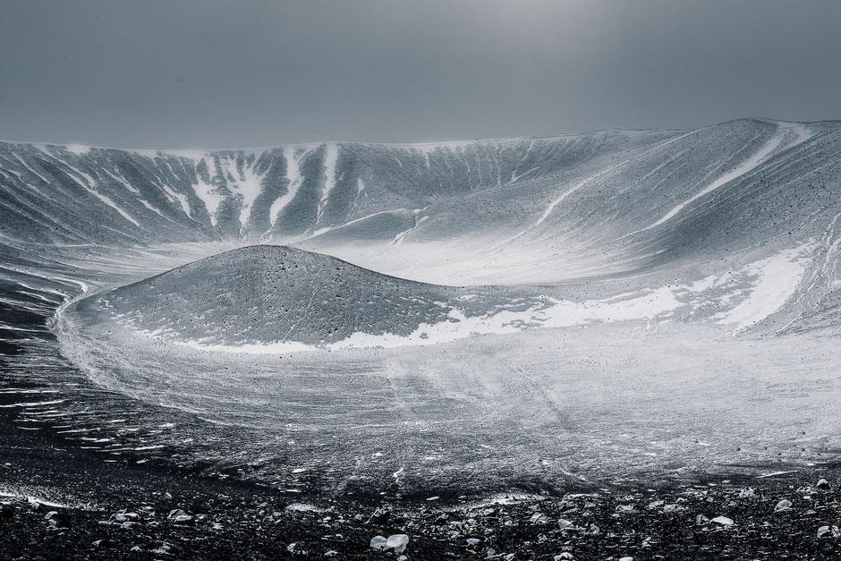 Vulkaan Hverfjall Myvatn Iceland