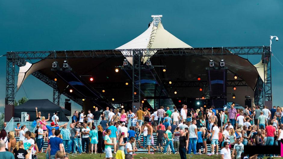 festival evenementen overkapping spider verhuur ivento