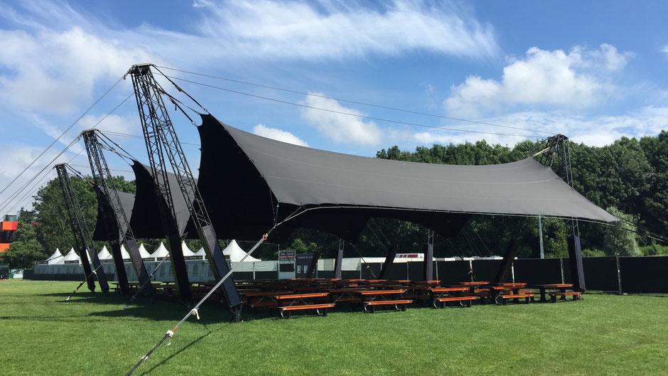 Festival overkapping Manta voor evenementen huren bij ivento