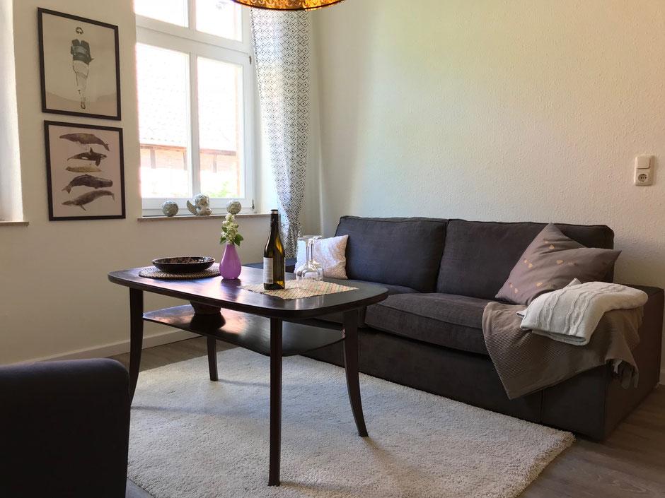 Wohnzimmer der Ferienwohnung Boltersen