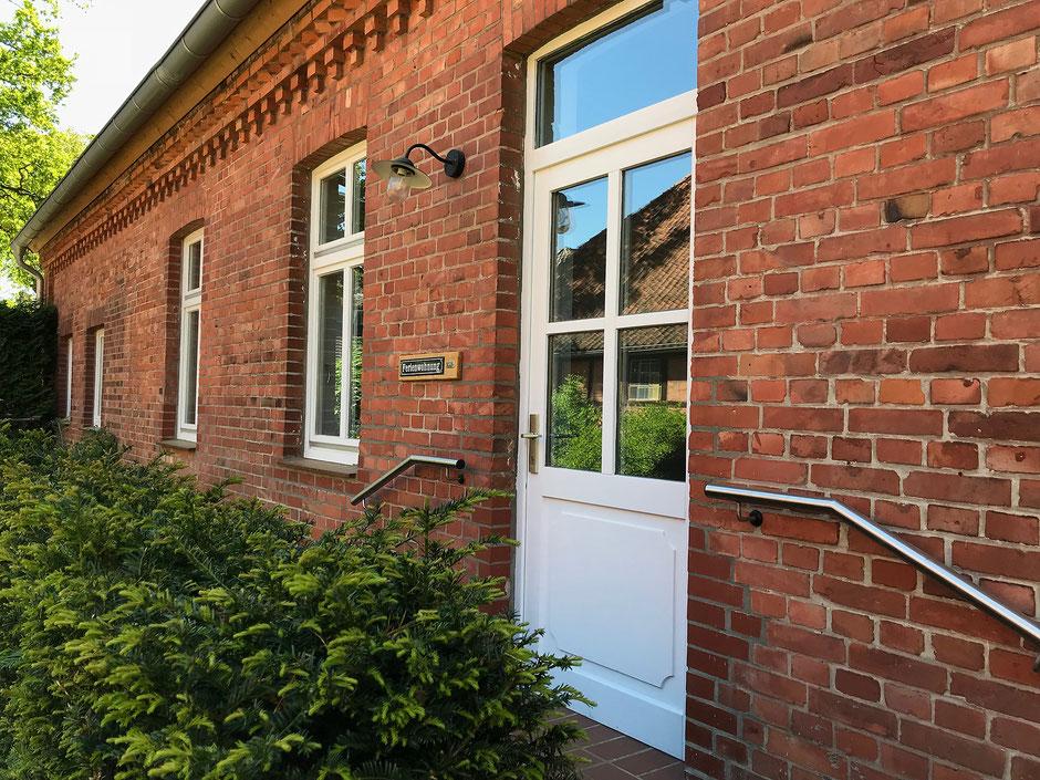 """Hier ist Ihr separater Eingang zur Ferienwohnung """"Am Sod"""" in Boltersen / Rullsdorf"""