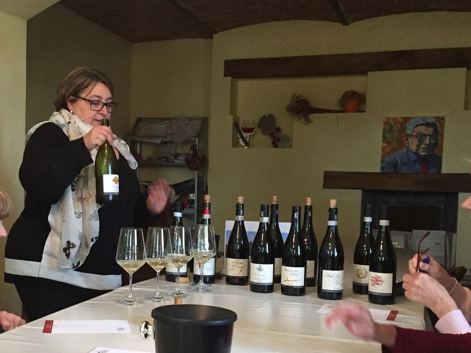 ピアモンテ(piemonte) のワイナリー  LA GIRONDA ワイン試飲会 モスカート・ダスティから