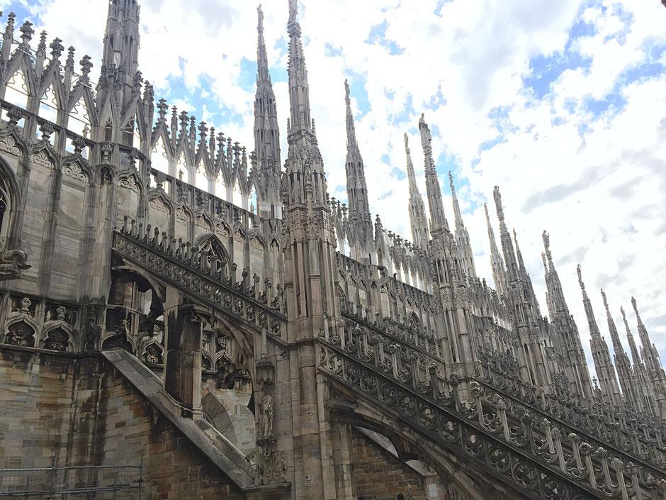 ミラノの大聖堂 屋上