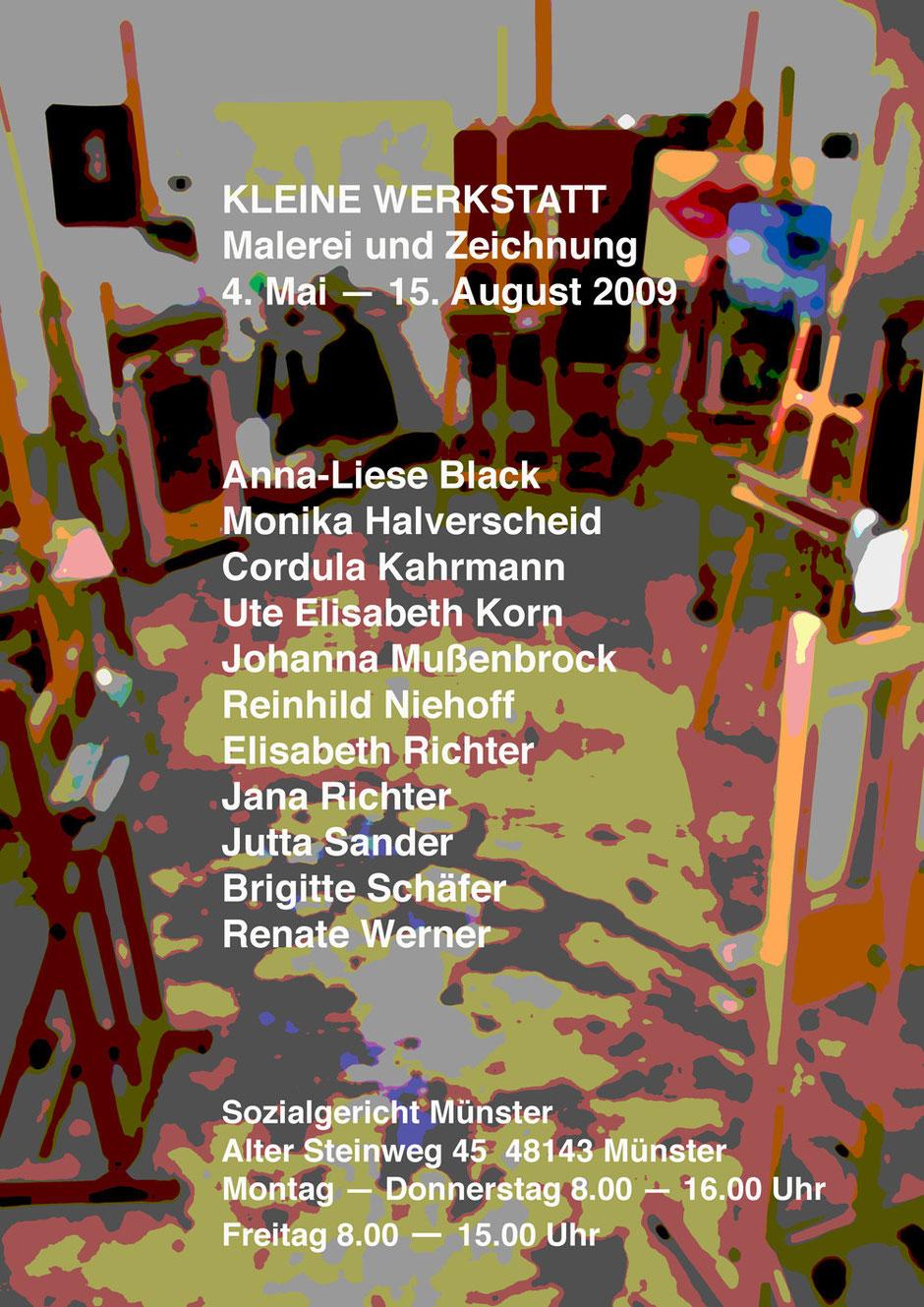 Ausstellungsplakat Sozialgericht Münster  2009