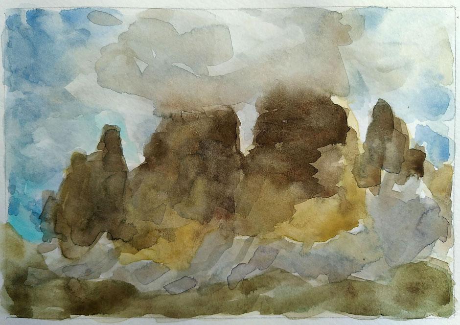 Beate »Aus dem Bergbuch – Dolomiti« Aquarell, April 2021