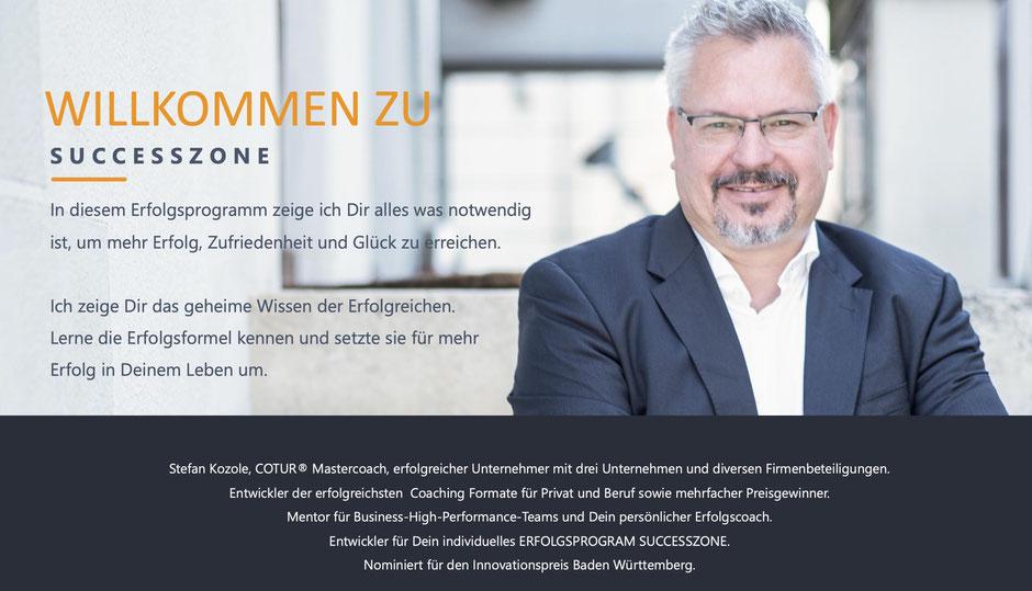SUCCESSZONE das Erfolgsprogramm von COTUR® - Wie Du mehr Erfolgt im Leben hast -Stefan Kozole