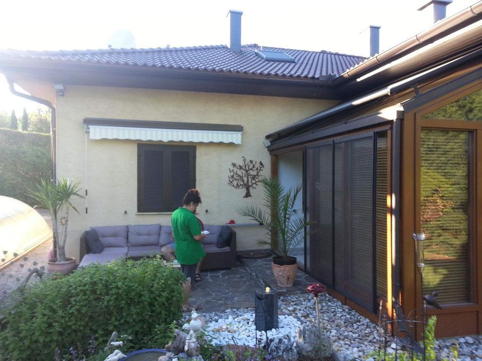 Die Terrasse vor Errichtung der Überdachung