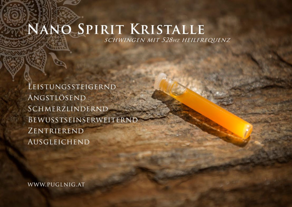 Nano 528 hz Gold-Ferrum Spirit Kristalle www.puglnig.at