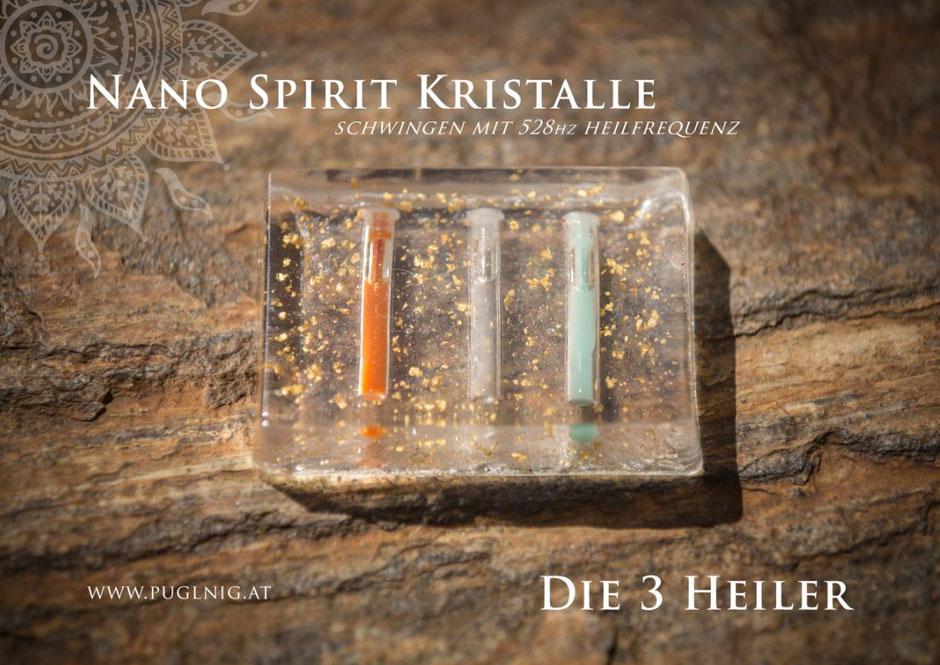 Die 3 Heiler Wasserladeplatte www.puglnig.at Spirit Kristalle