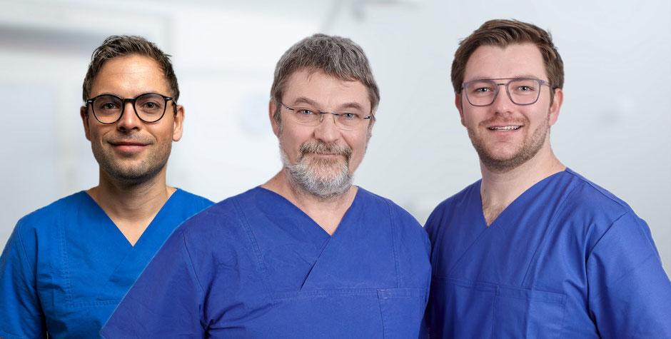 Gruppenbild, Ärzte-Team aus dem Zahnzentrum Fiedler in Kenzingen