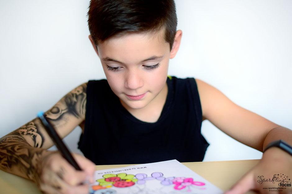 Kinderschminken_Vorlagen; Schminkfarben_kaufen_Schweiz; Kinderschminken_Kurse; Svetlana_Keller; face_painting; Ballonmodellieren; Airbrush_Tattoos