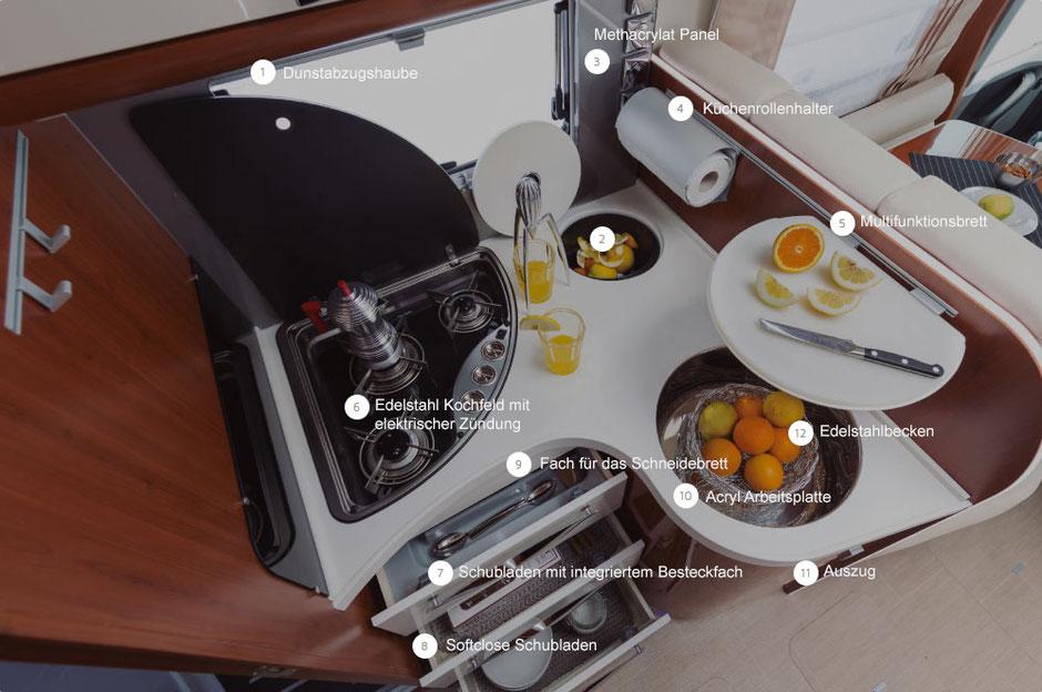 Küchenbereich K-Yacht Tekno Line