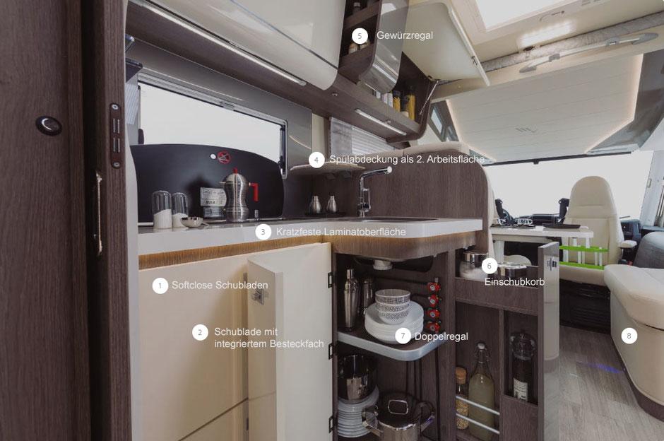 Mobilvetta K-Silver I Küchenbereich