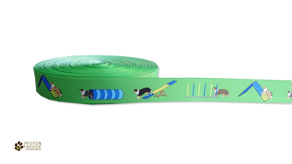 Aussieborte Agility Webband Ripsband Hund