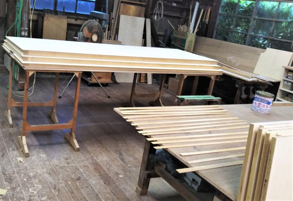 オーダー家具 収納家具 間仕切り収納 シナ材