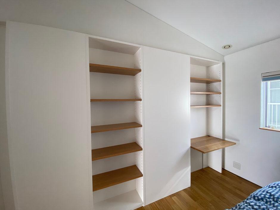 子ども部屋 間仕切り家具 本棚