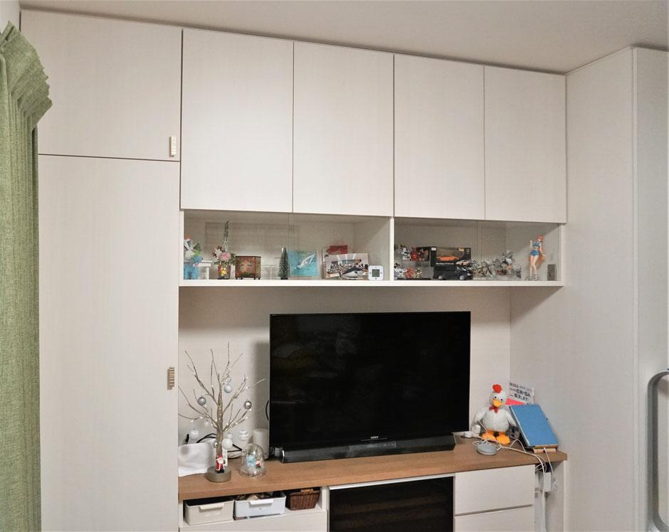 リビング 壁面収納 飾棚 テレビボード 大容量収納