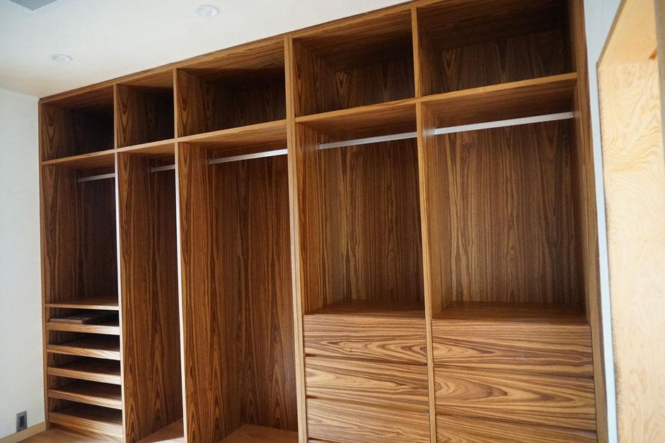 ウォークインクローゼット 造作家具 オーダー家具