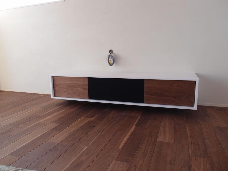 テレビボード 人工大理石 ウォールナット オーダーメイド家具