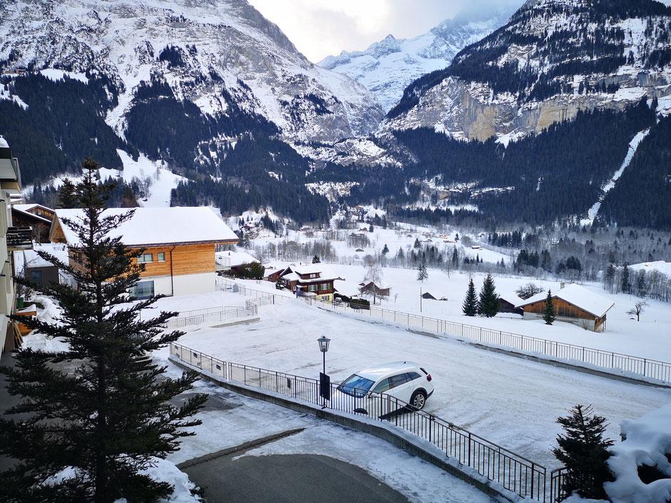 Parkplätze Intersport Kaufmann Grindelwald