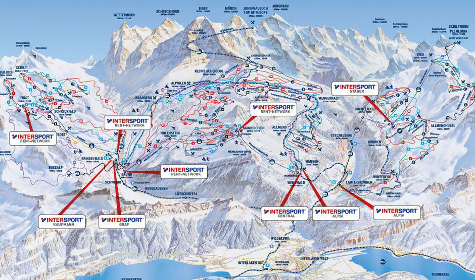 Ski-Miete Intersport Rent-Network Kaufmann Jungfrau Region