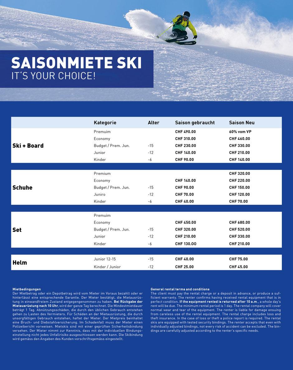 Saison-Miete Kaufmann Sport Grindelwald