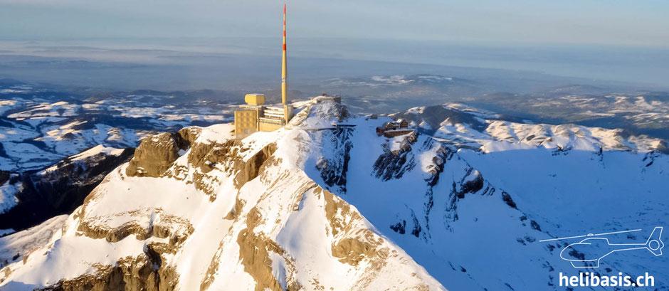 Säntis, Alpsein, Ostschweiz, Rundflug, Heli, Berge