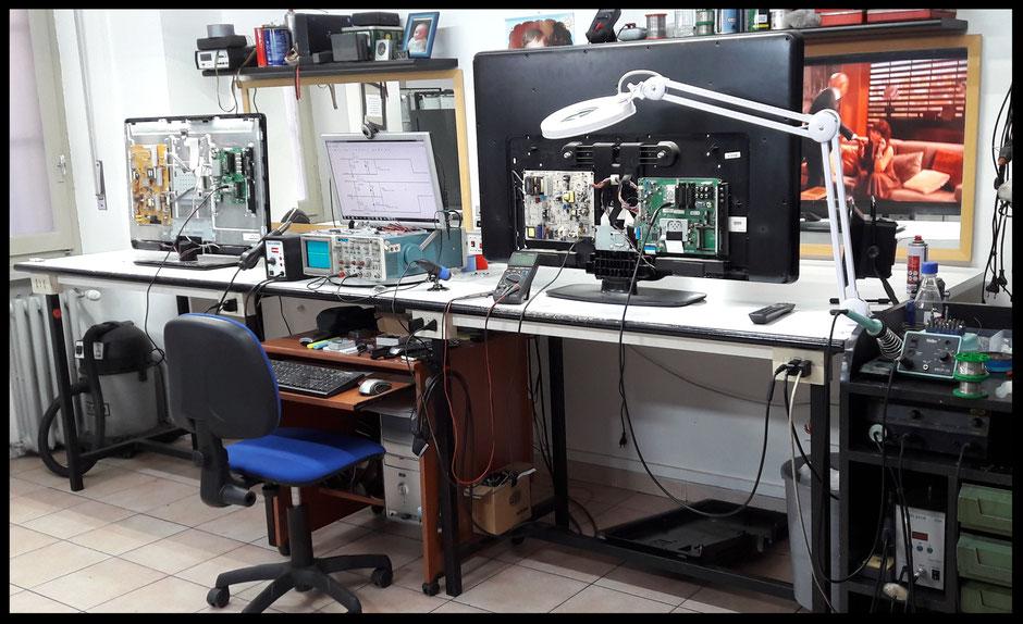 laboratorio specializzato in riparazione televisori Torino Video System