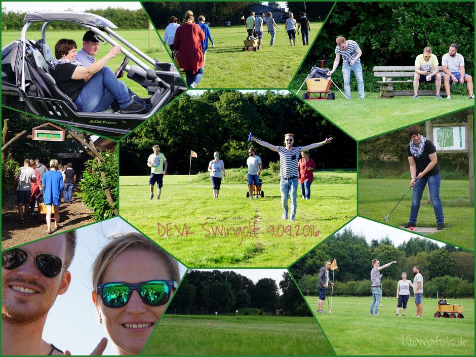Swingolfen ... mit den Kollegen in Hürup! :) Spaß pur bei Wahnsinnswetter! :)