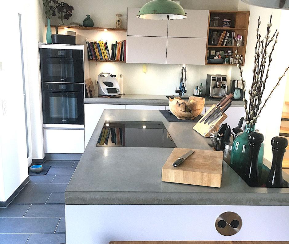 Küchenarbeitsplatten von werftbeton Köln