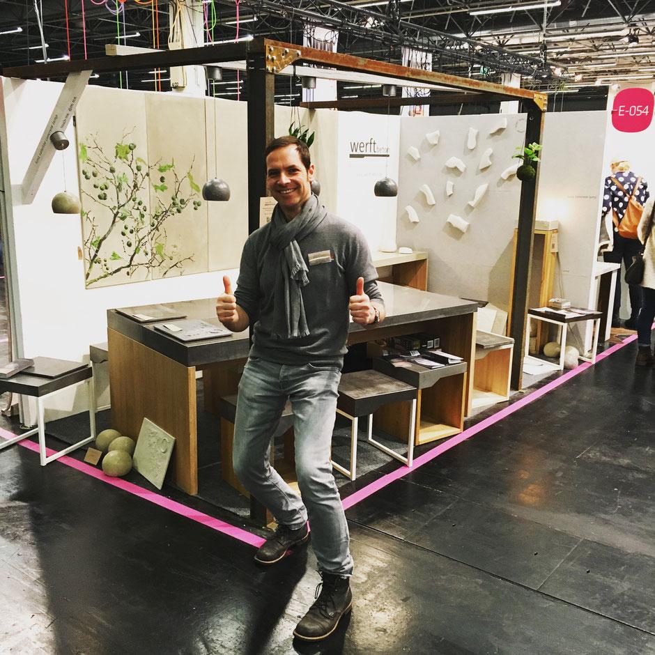 Blickfang Designers Market Messestand von werftbeton Köln