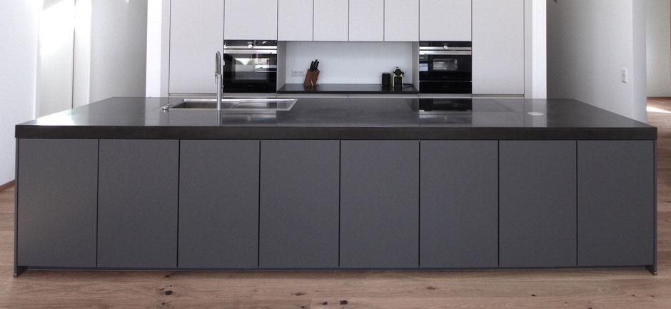 Küchenarbeitsplatten aus Beton von werftbeton