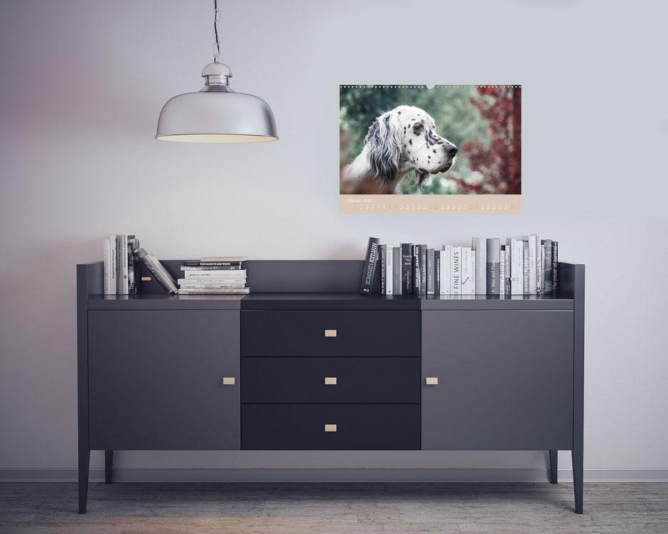 VISOVIO English Setter - Impressionen edler Hunde >>> Erhältlich z.B. auf Buch24, Thalia, Amazon, bestellbar bei jedem regionalen Buchhändler || werbung, english setter, geschenkidee, setter kalender, visovio, fineart