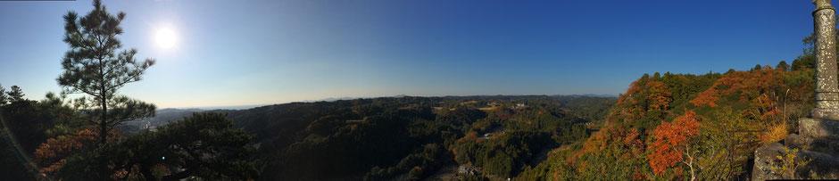 獅子ヶ鼻公園からの秋の眺望