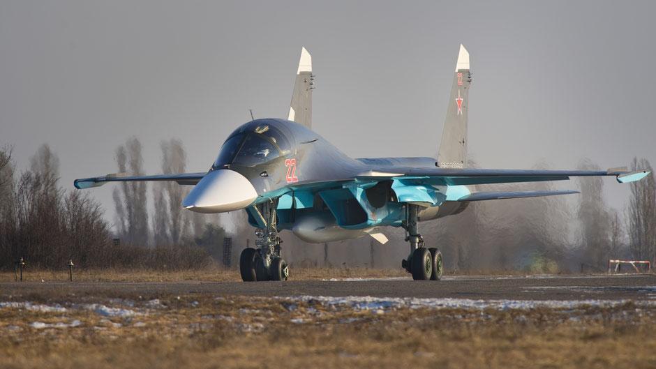 Su-34 in rullaggio (Foto: Sukhoi)