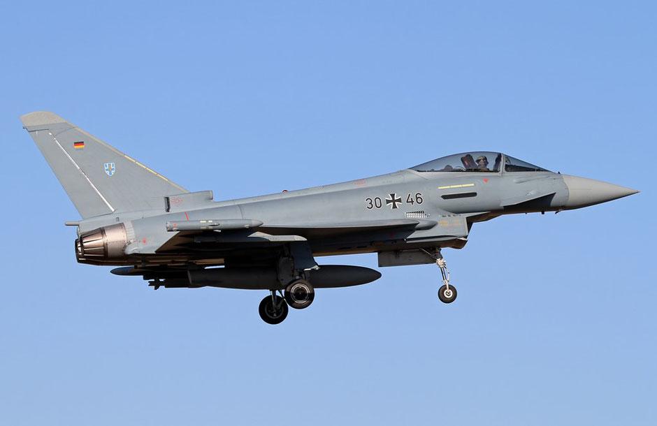 Gli Eurofighter tedeschi erano ormai di casa a Decimomannu (Foto: Aviation Air Routes)