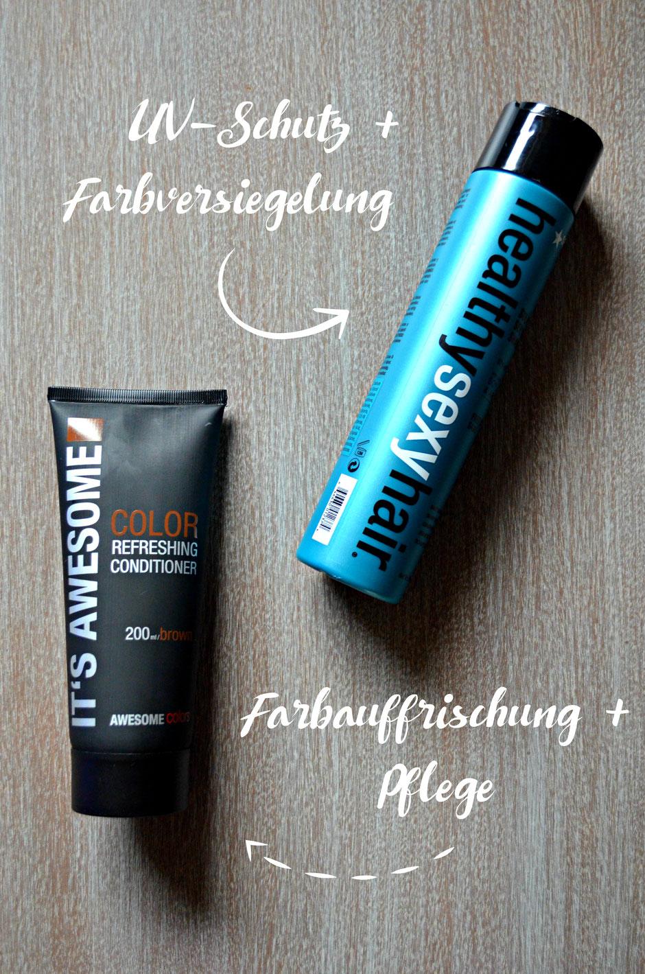 Gegen erste graue Haare: Farbauffrischendende Spülung