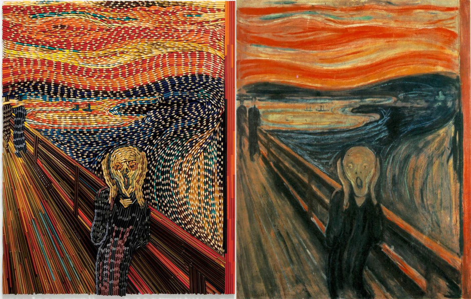 The scream (Edvard Munch) Feber Castell