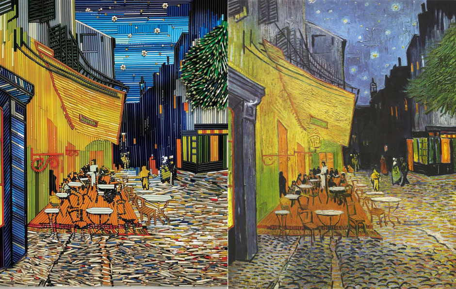 cafe terrace at nigh (Van-Gogh) - Feber Castell