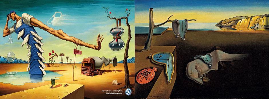 La persistencia de la Memoria (Dalí) - Volkswagen