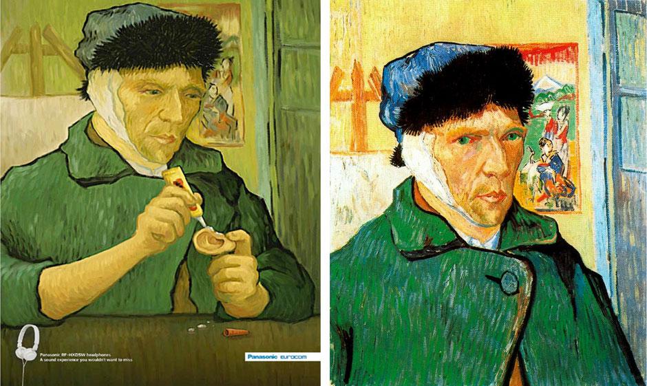 Autorretrato con oreja vendada (Vincent van Gogh) – Panasonic