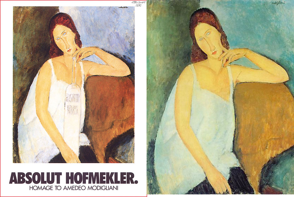 Jeanne Hébuterne (Modigliani) Absolut Vodka
