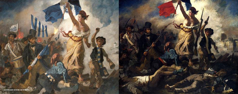 La libertad guiando al pueblo (Eugène Delacroix) - HJK Helsinki