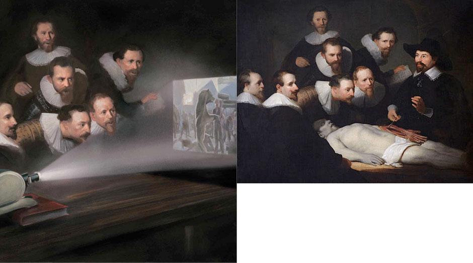 La lección de anatomía del Dr. Nicolaes Tulp  (Rembrandt) -  Let The Art Decide