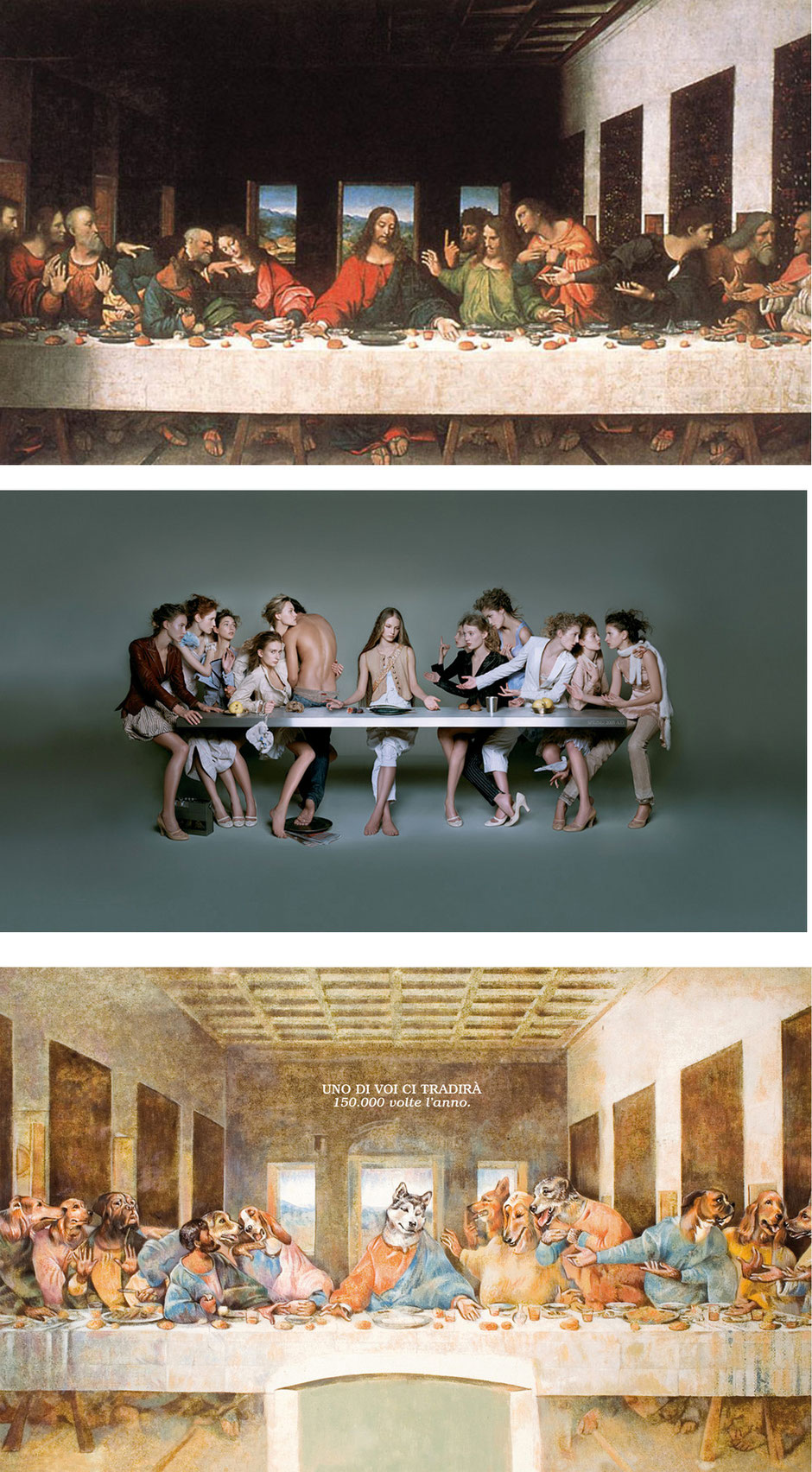 La última cena (Leonardo da Vinci)  - Marithe & Francois Girbaud - OIPA